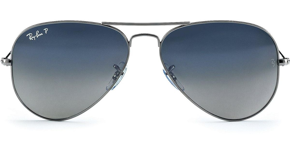 e32fabcd648f Lyst - Ray-Ban Polarized Metal Uv Protection Aviator Sunglasses in Blue for  Men