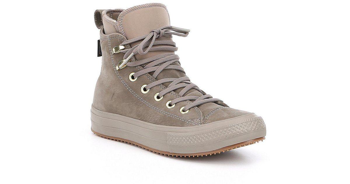 d6fe0afa6de Lyst - Converse Women S Chuck Taylor All Star Waterproof Boot Hi Top  Sneakers