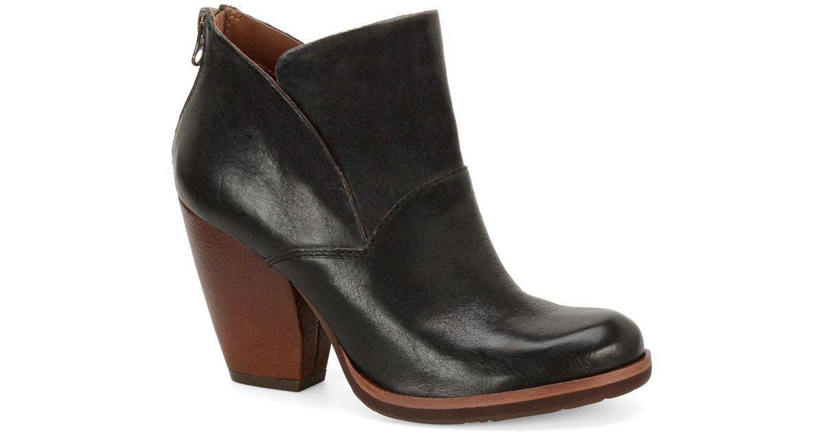 cbbf79d847ee Lyst - Kork-Ease Castaneda Leather Block Heel Booties in Black