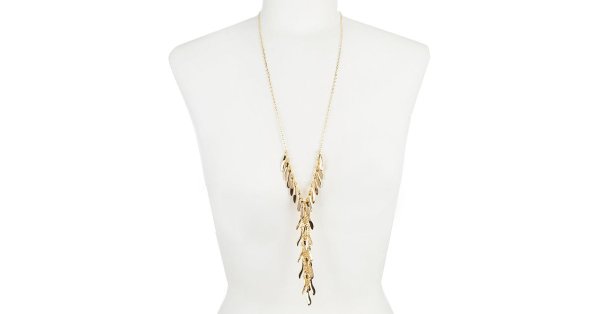eaf95883fd000 Vince Camuto - Metallic Waterfall Y Necklace - Lyst