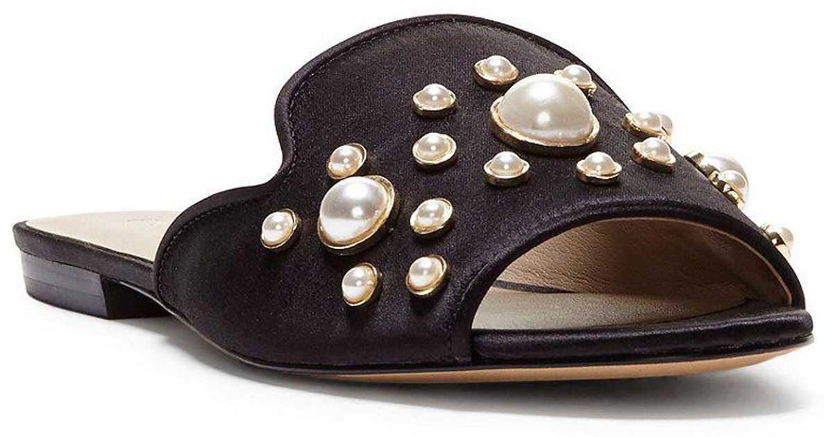 Merilyn 4 Satin Pearl Ornament Dress Sandals