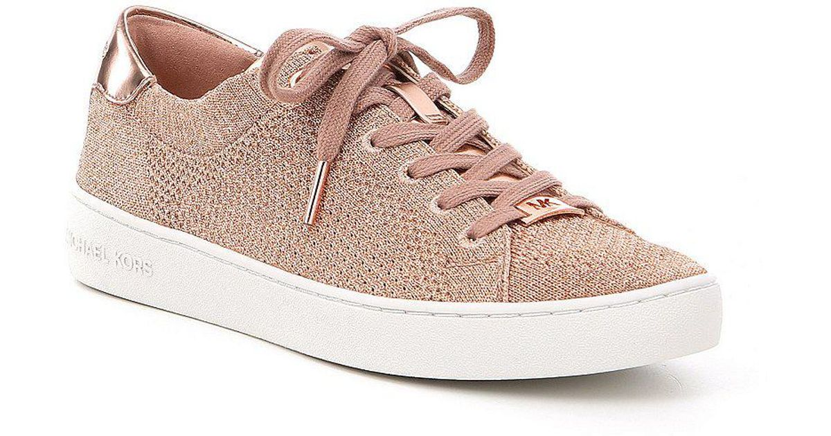 fb0b96f78 MICHAEL Michael Kors Skyler Knit Lace Up Sneakers in Pink - Lyst