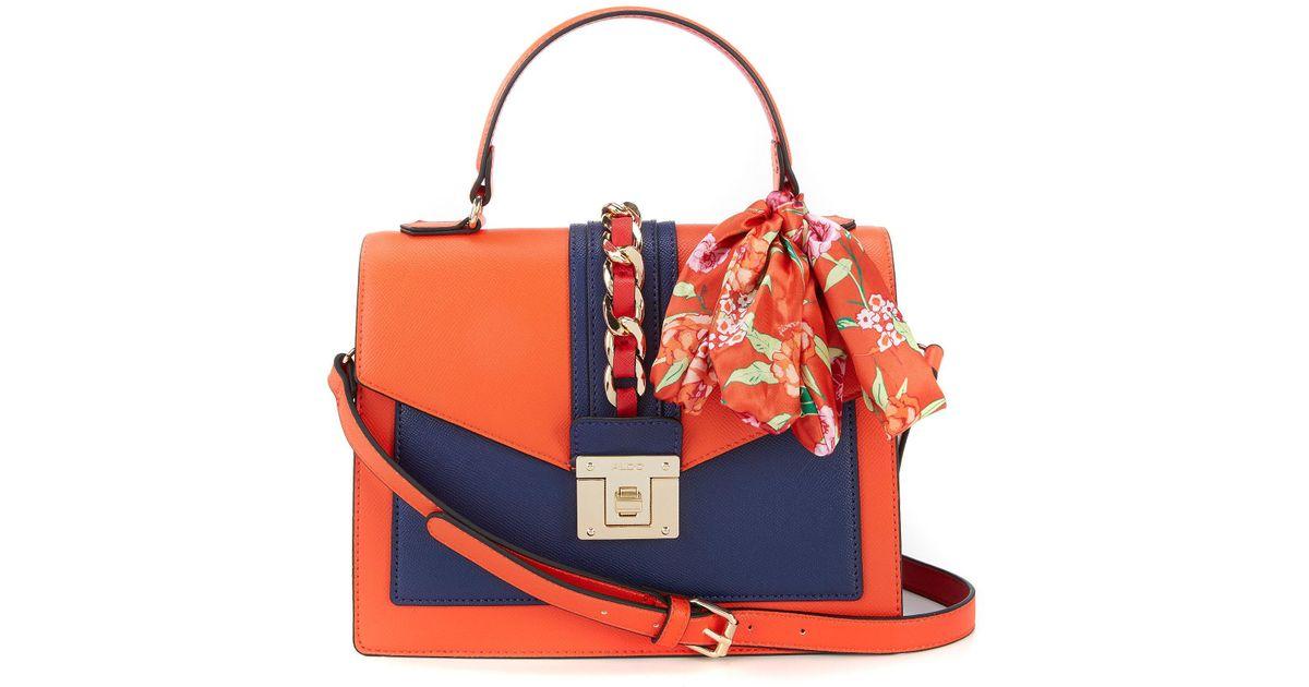 a32bf5ca12 Lyst - ALDO Glendaa Small Top Handle Handbag in Orange