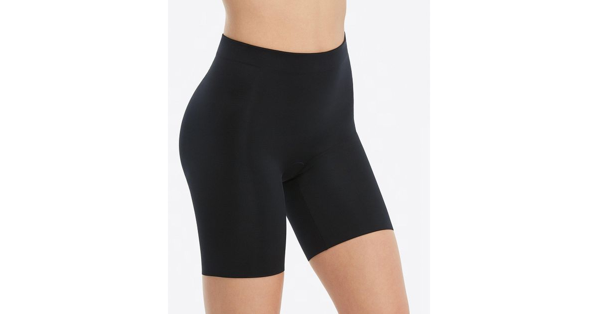 c68bdc1c79892 Lyst - Spanx Plus Size Suit Your Fancy Booty Booster Mid-thigh Shaper in  Black