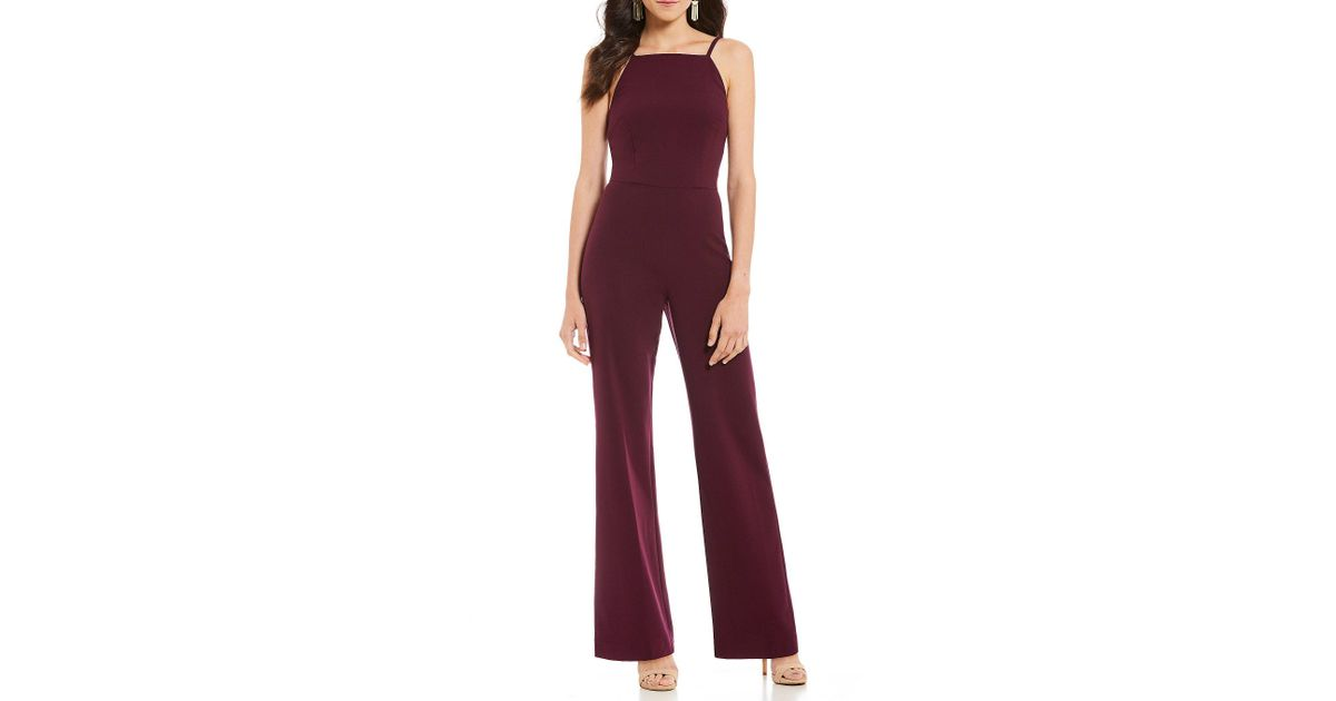 cd3a8bf4176 Lyst - French Connection Whisper High Square Neck Jumpsuit in Purple