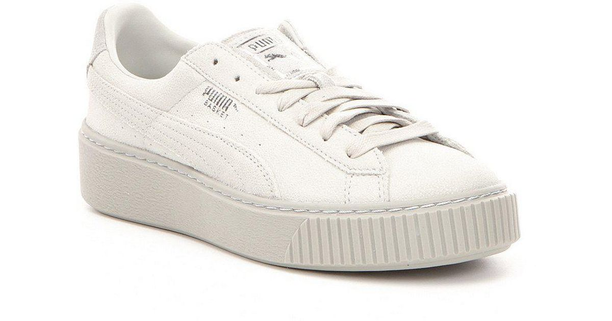 e1cd2d4325b2 Lyst - PUMA Basket Platform Reset Sneakers in White