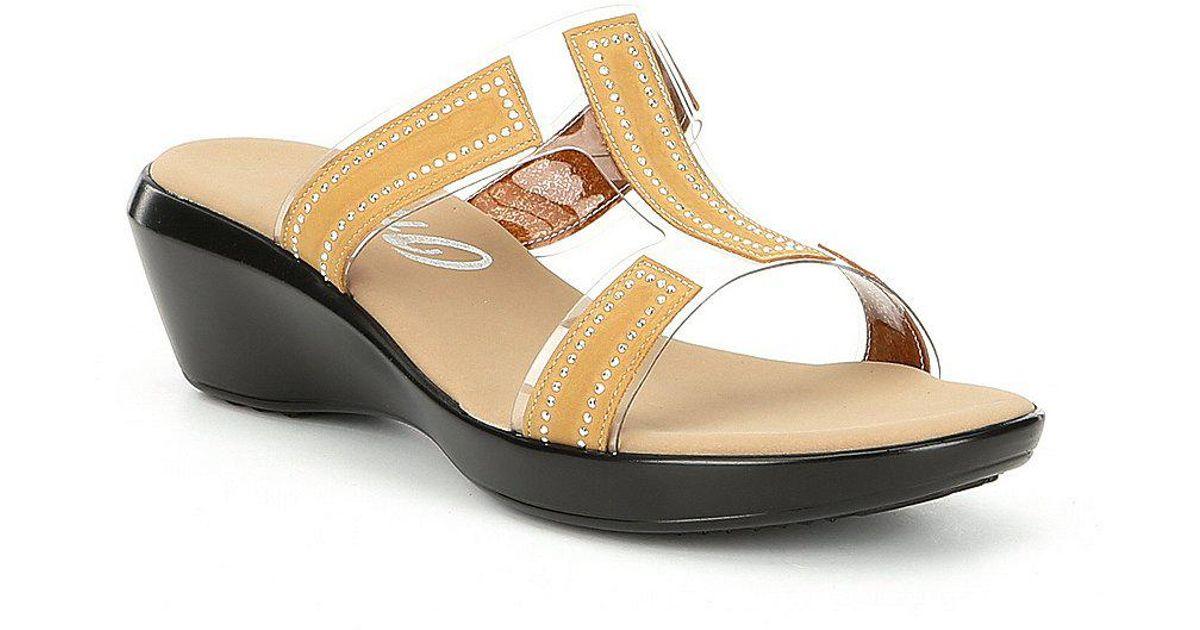 Onex Piper Transparent Lucite and Rhinestones Slide Sandals ciLOTsM6