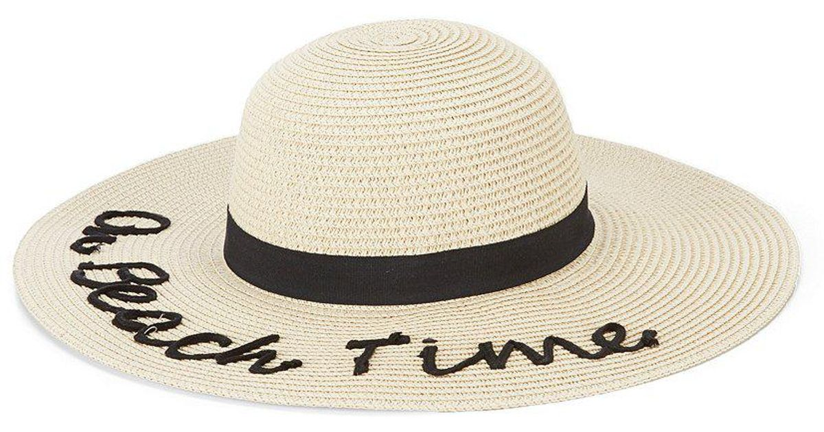 Lyst - August Accessories On Beach Time Floppy Hat in Natural 1e1ab6cb4dc