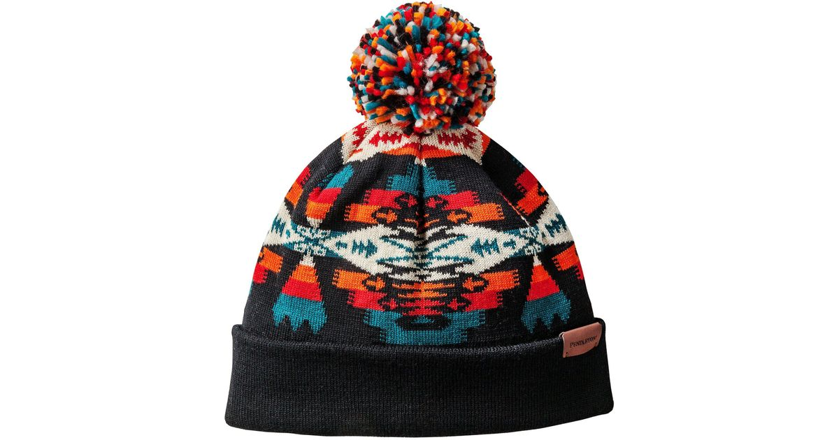 f883598116d Lyst - Pendleton Tucson Winter Beanie With Pom Pom in Red
