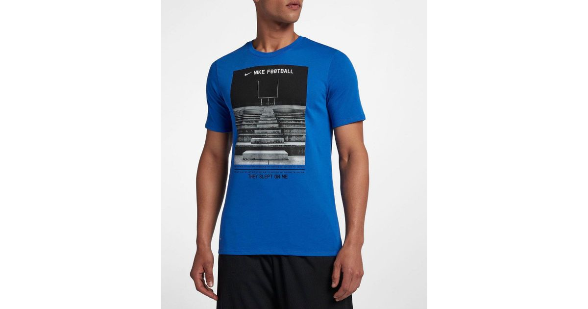 a1405b312 Lyst - Nike Dry Short-sleeve Photo Print Football Field T-shirt in Black  for Men