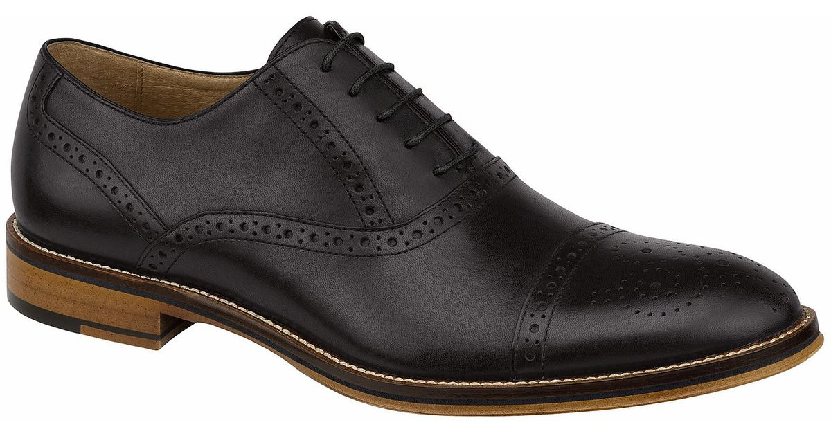 Johnston Amp Murphy Conard Men ́s Cap Toe Oxfords In Black