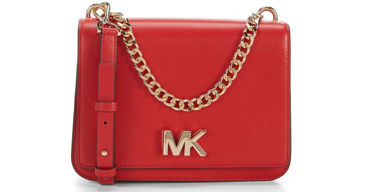 917e8d6091d Lyst - MICHAEL Michael Kors Mott Large Chain Swag Shoulder Bag in Red