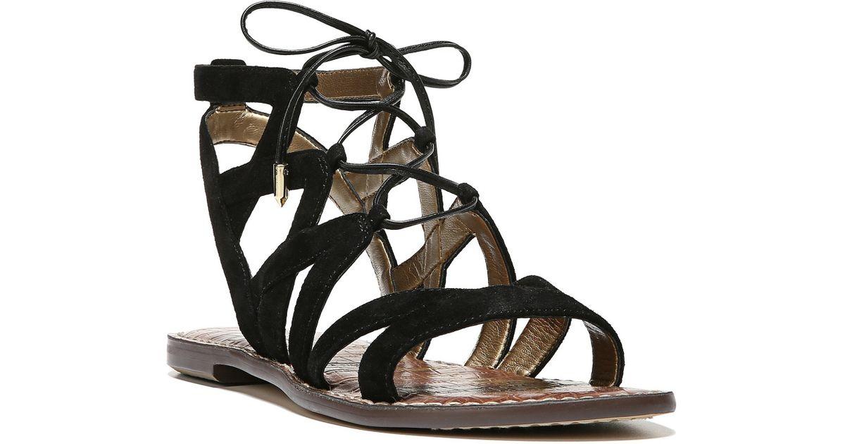 6da9d45f9a6c Lyst - Sam Edelman Gemma Lace-up Ghillie Sandals in Black
