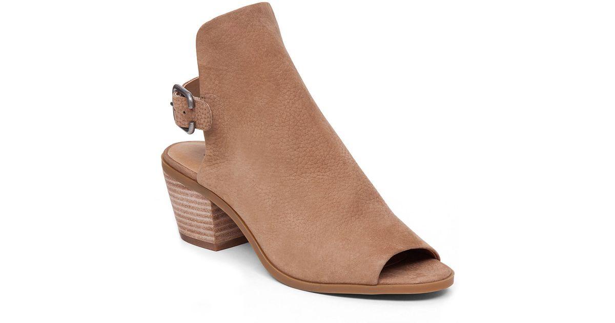 39dc5d53439 Lyst - Lucky Brand Bray Peep Toe Block Heel Shooties in Brown