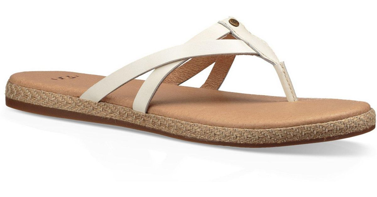 8ceb9fc390f Lyst - UGG ® Annice Thong Sandals in White