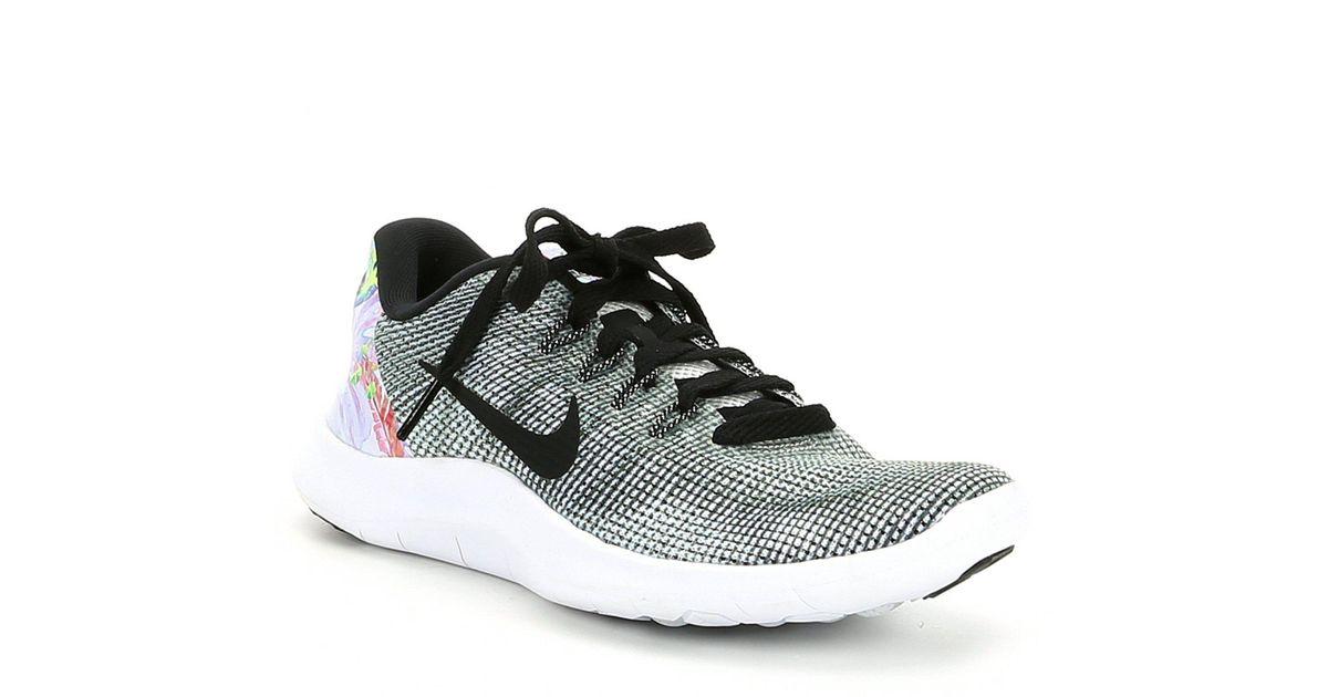 9a977ba932ce Lyst - Nike Women s Flex 2018 Rn Premium Running Shoe in Black
