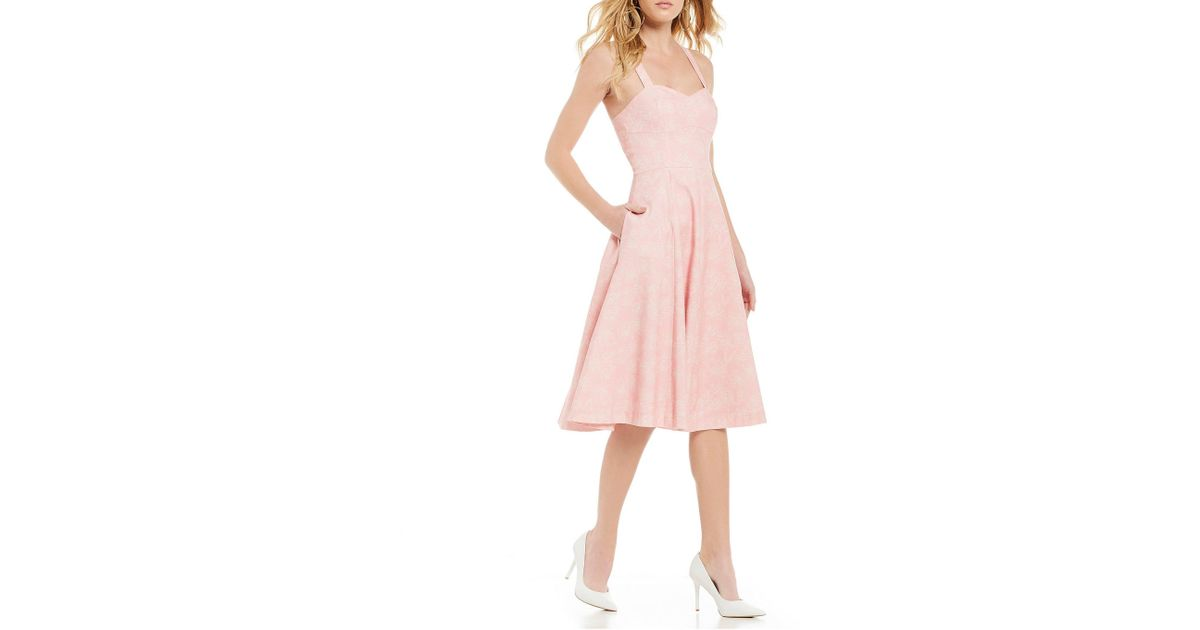 d9722d4b308 Lyst - Gianni Bini Uma Sleeveless Sweetheart Neckline Midi Dress in Pink