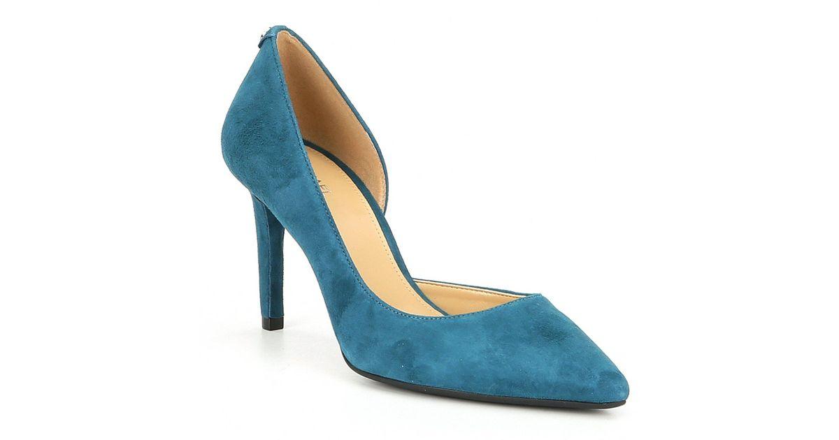 8a7a49f33a2 Lyst - MICHAEL Michael Kors Dorothy Flex Suede D orsay Pumps in Blue