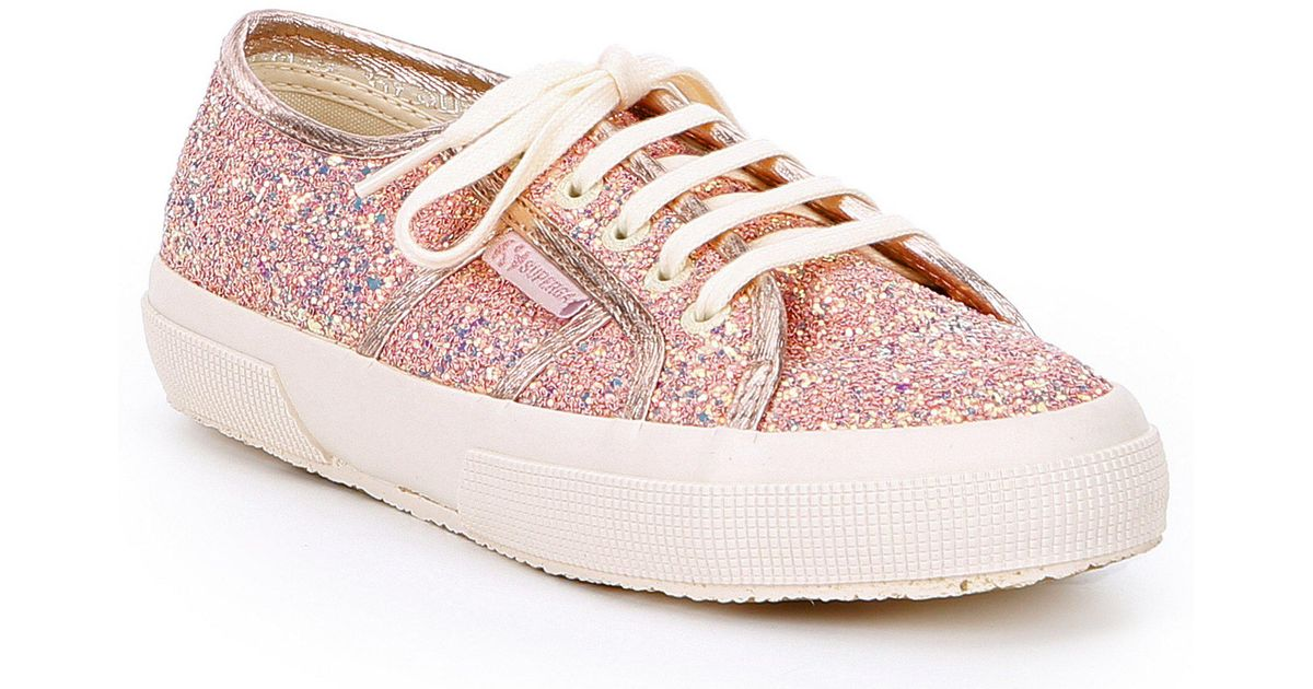 4b137772a5b95 Superga 2750 Chunky Glitter Sneakers in Pink - Lyst