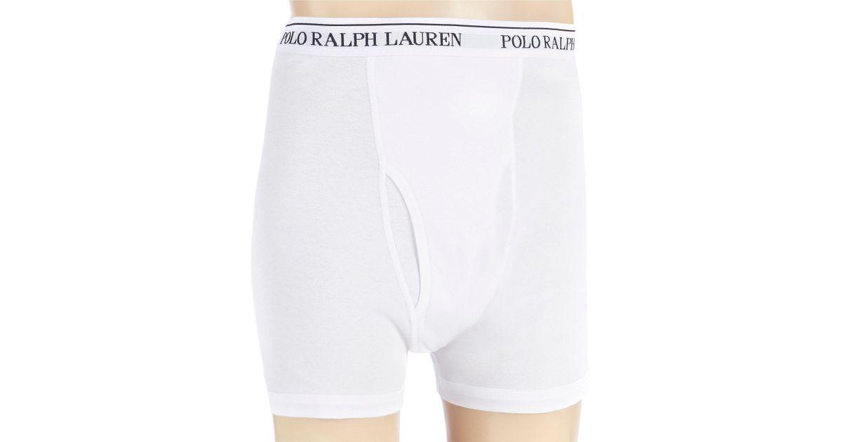 d13fb07da18a44 Lyst - Polo Ralph Lauren Classic Fit Long Leg Boxer Briefs 3-pack in White  for Men