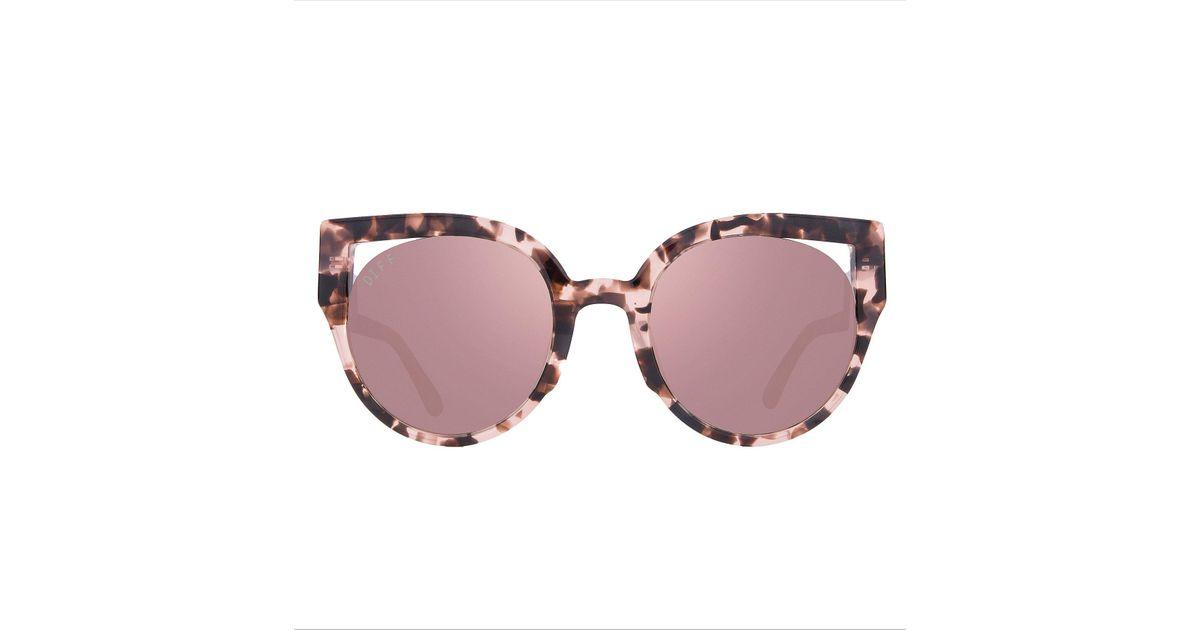 00d6b3c4cdf Lyst - DIFF Penny Himalayan Tortoise Sunglasses