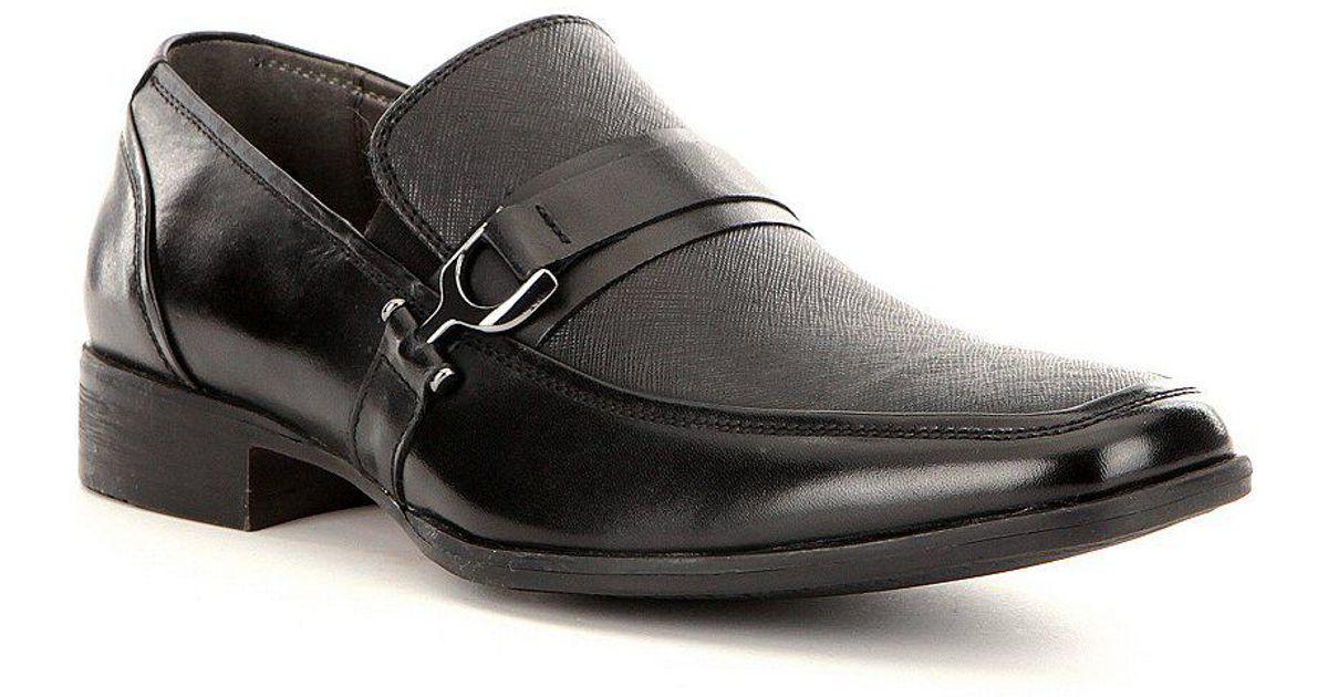 99406a4e3e1 Lyst - Steve Madden Santer Slip-on Leather Dress Loafers in Black for Men