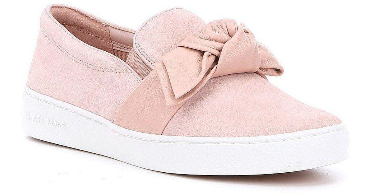 9045ee2fbcd2 Lyst - MICHAEL Michael Kors Willa Suede Slip-on Sneakers in Pink