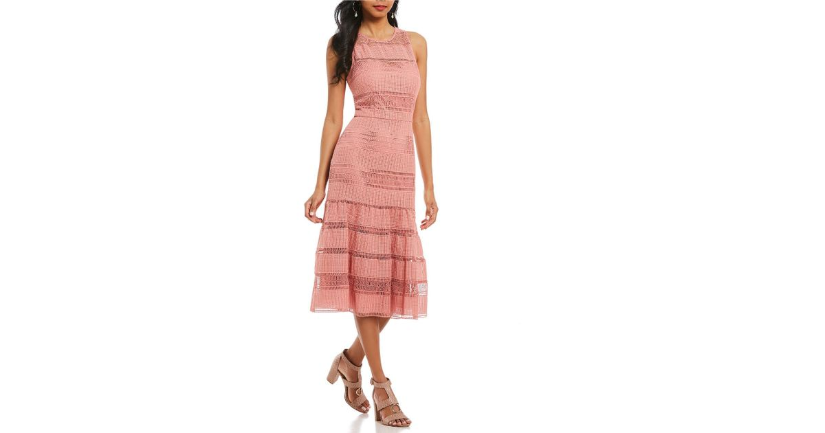 6ae273d9f3f Antonio Melani Franny Lace Midi Dress in Pink - Lyst