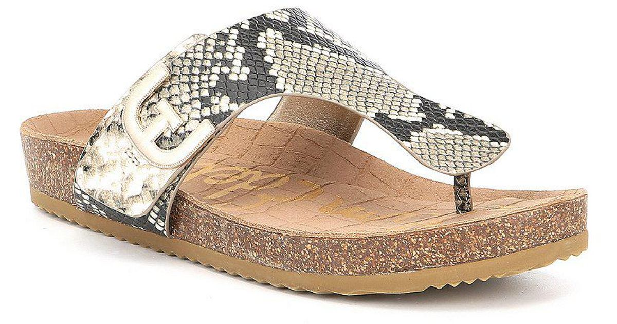 Sam Edelman Olga Snake Printed Double E Sandals