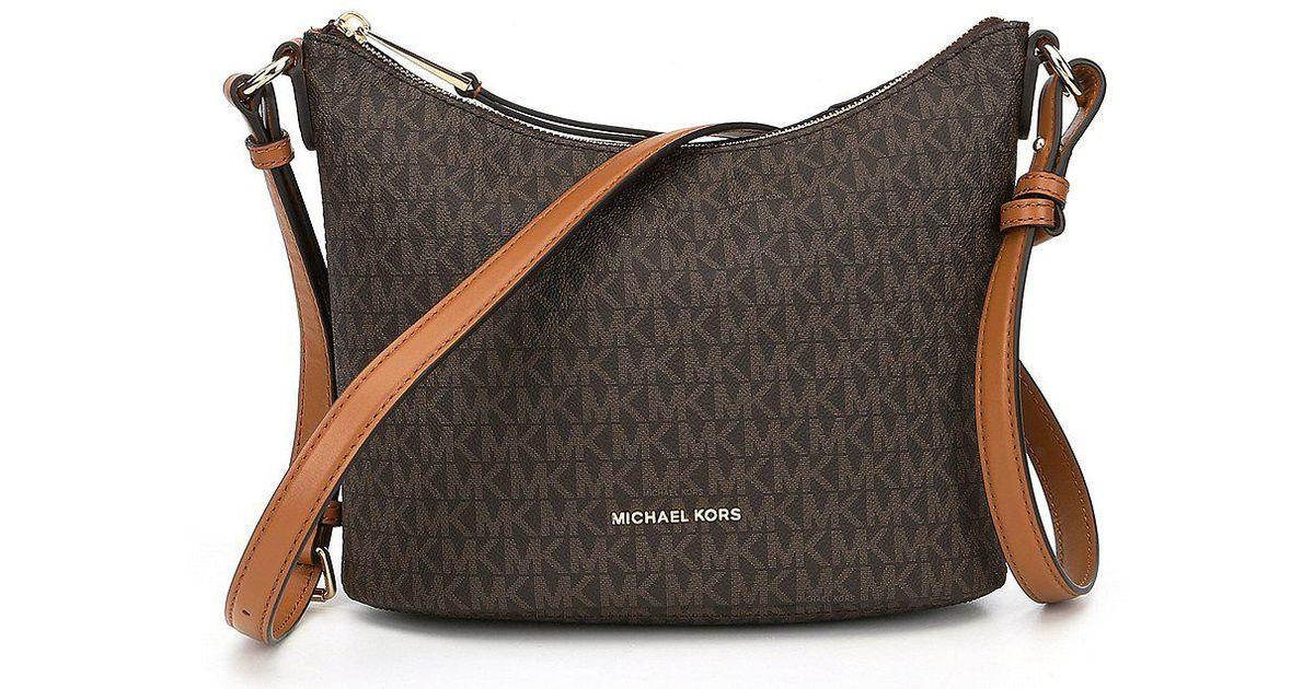10cf5b33b6dc MICHAEL Michael Kors Signature Lupita Medium Cross-body Bag in Brown - Lyst