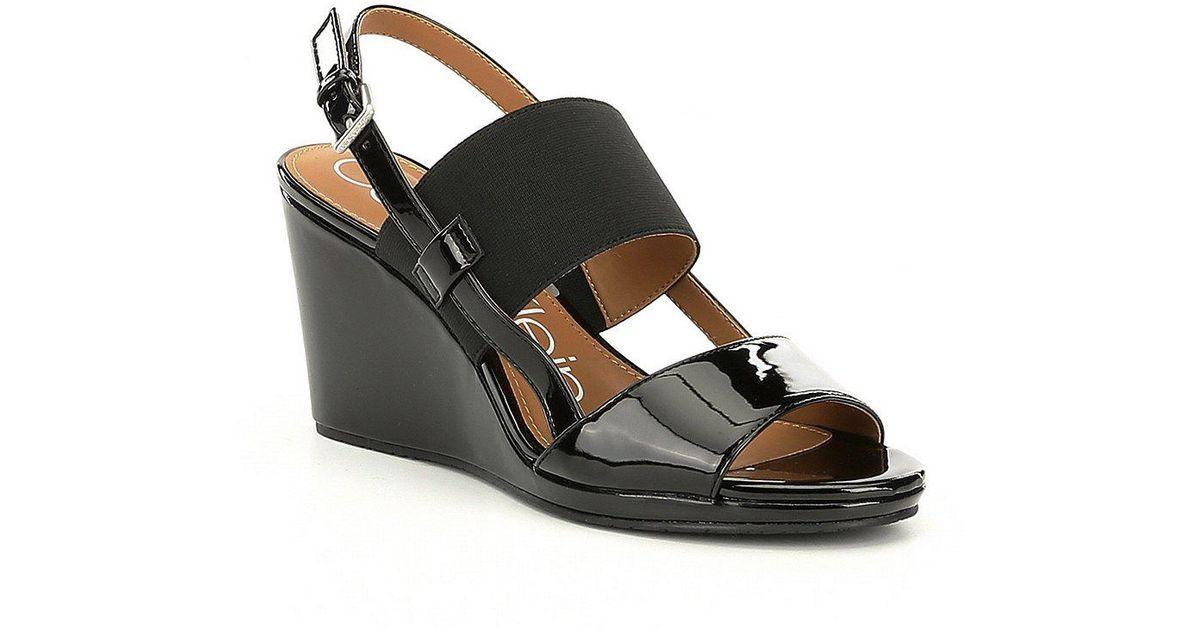 Bethan Elastic Wedge Sandals lSeoz