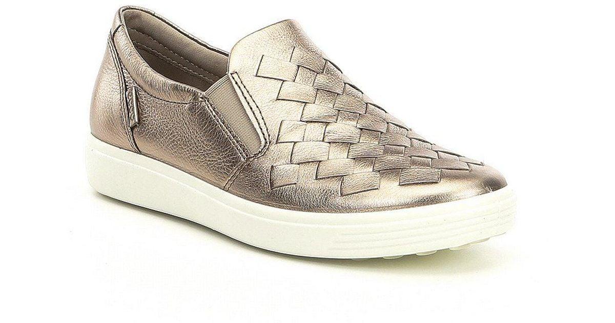 452cbd92f307 Lyst - Ecco Women s Soft 7 Woven Slip-on Sneakers in Gray