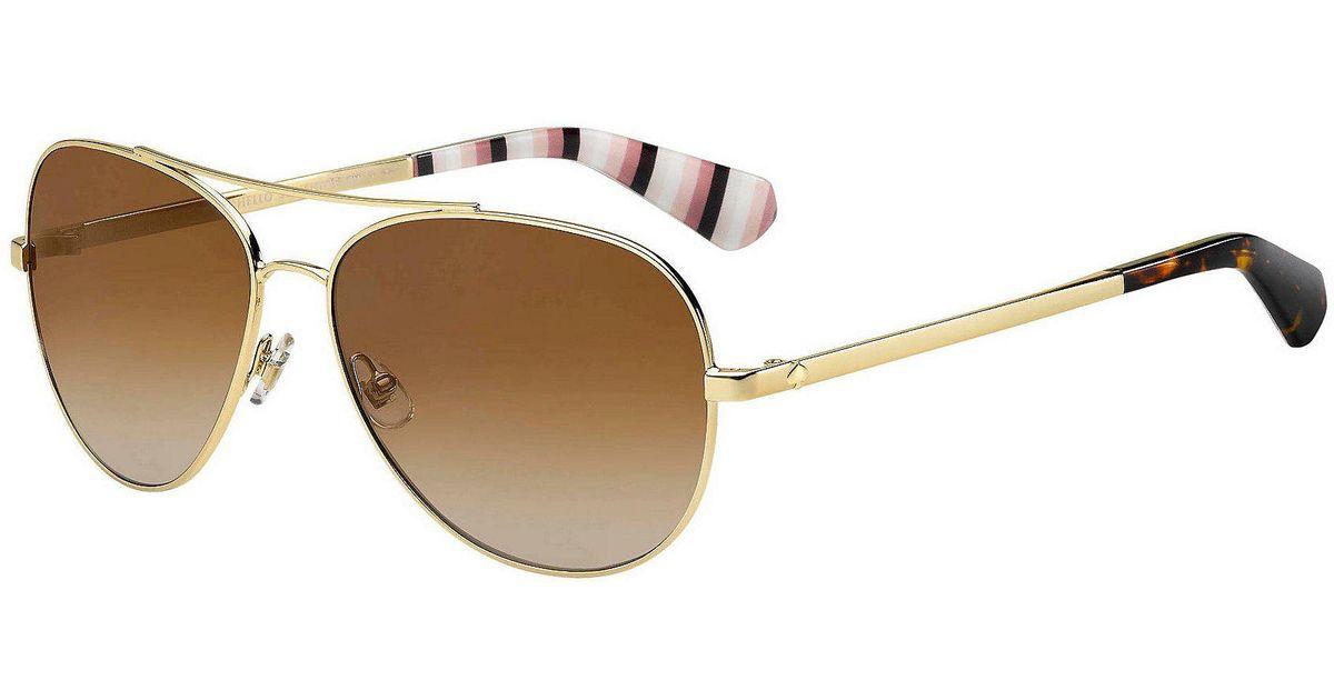 503f1fa853 Lyst - Kate Spade Avaline 2 Mirrored Aviator Sunglasses