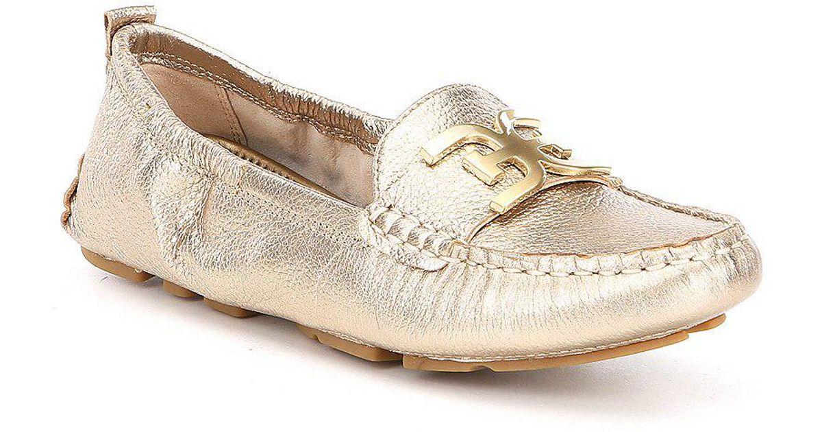 9954ecf155b Lyst - Sam Edelman Farrell Metallic Leather Double E Loafers in Metallic