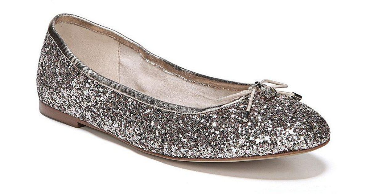 Felicia Chunky Glitter Fabric Flats 0wREE3M