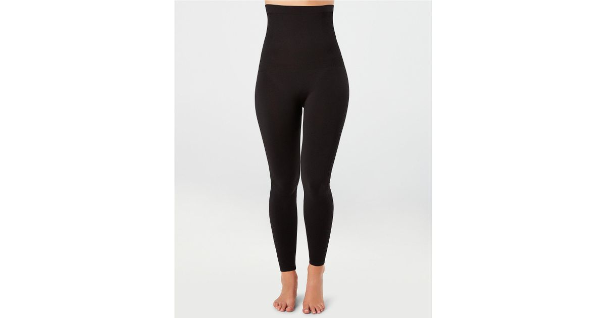 a56d49b985 Lyst - Spanx High Waisted Look At Me Now High-waisted Seamless Legging in  Black