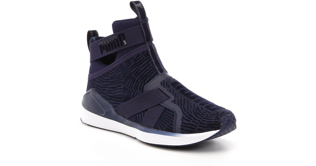5c054496f09 Lyst - PUMA Fierce Strap Flocking Sneakers in Blue for Men