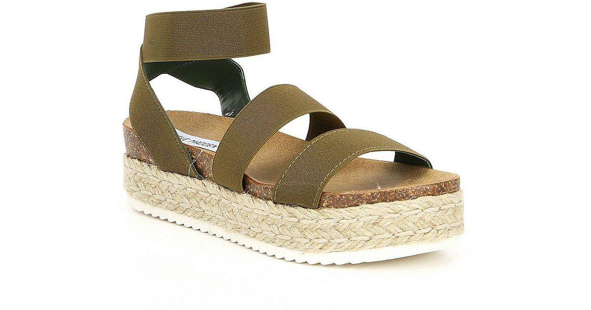 Steve Madden Kimmie Elastic Wedge Espadrille Sandals 68CODUK7CK