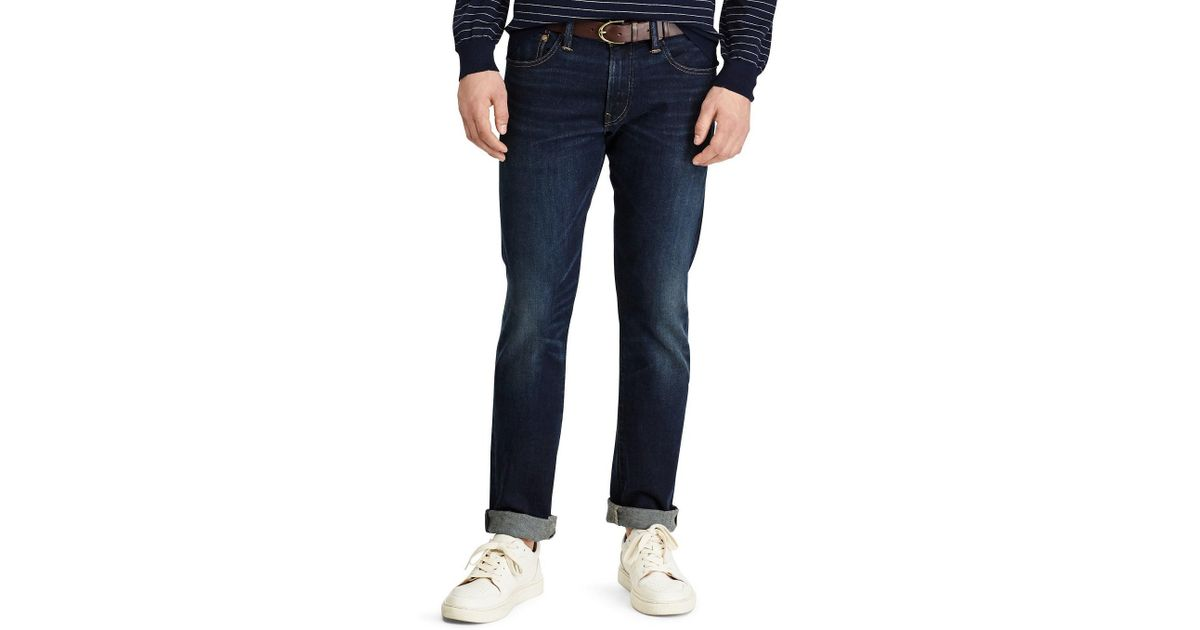 46e61ec96 Lyst - Polo Ralph Lauren Big   Tall Hampton Relaxed Straight-fit Stretch  Jeans in Blue for Men - Save 31%