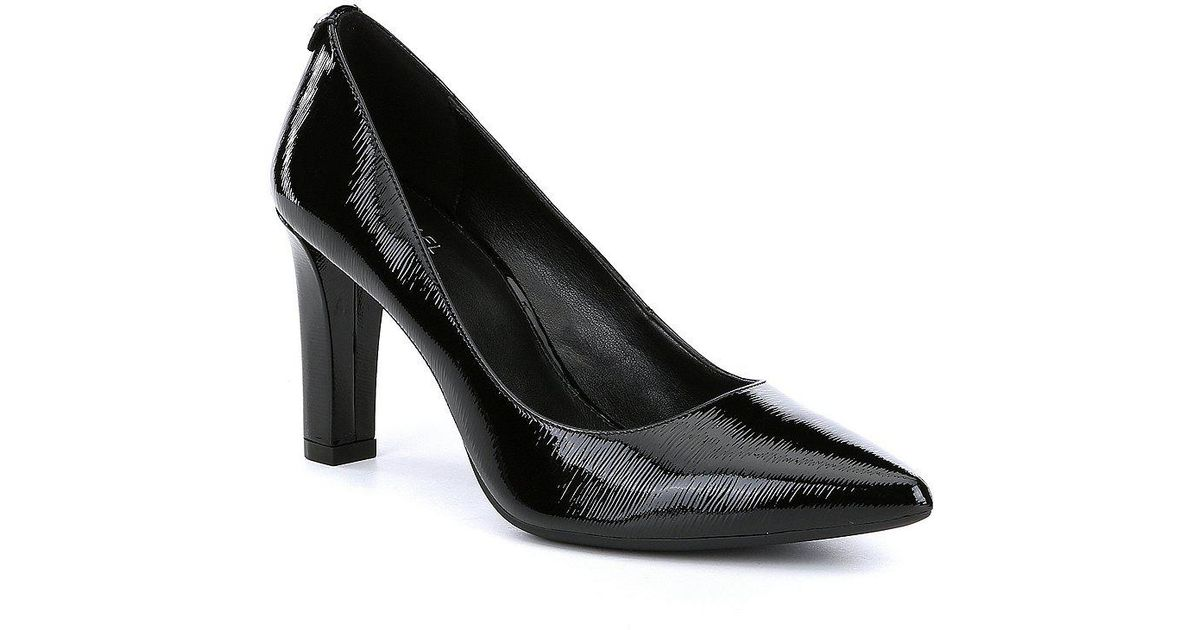 590ff2ac3f98 Lyst - MICHAEL Michael Kors Abbi Flex Patent Leather Pumps in Black
