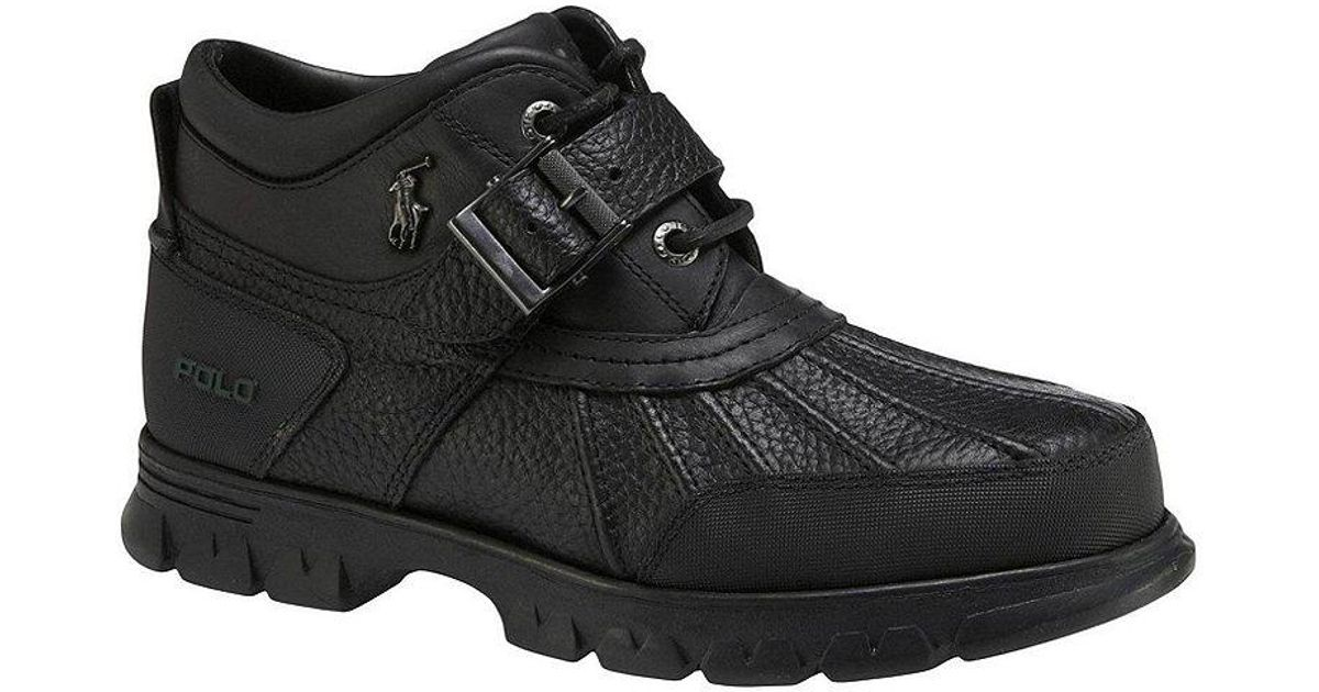 e9b0dc0c3a19a Lyst - Polo Ralph Lauren Dover Iii Rugged Men ́s Duck Boots in Black for Men