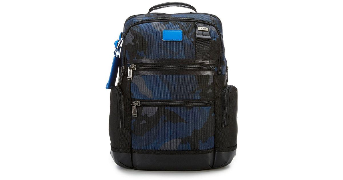 ebd575bc8 Tumi Knox Camouflage Backpack in Blue for Men - Lyst