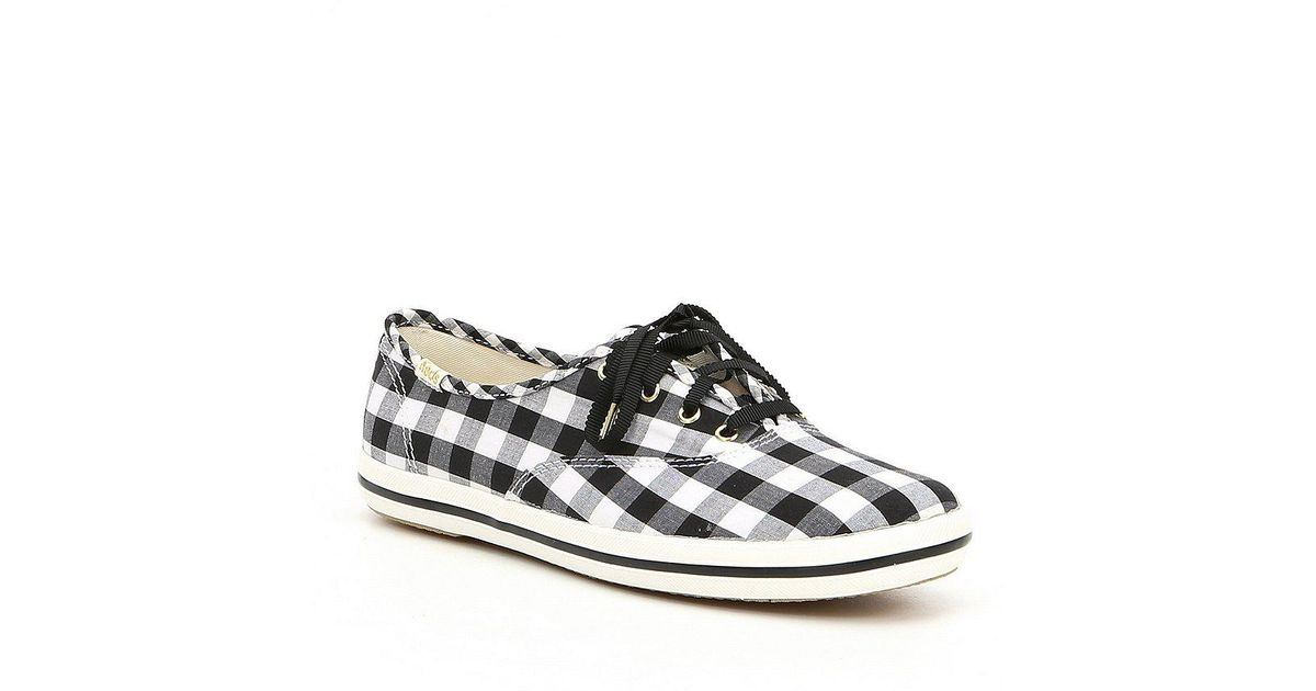 a718b18cabdff Lyst - Kate Spade Keds X Champion Gingham Sneakers in Blue
