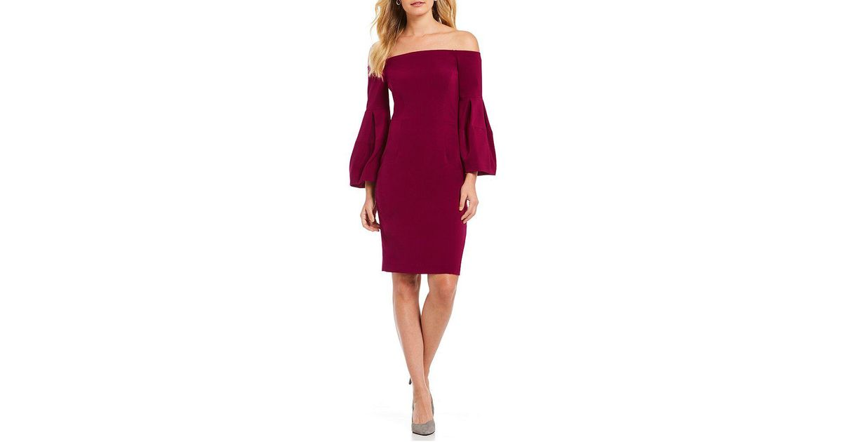 9cb35565b51 Antonio Melani Clovis Puff Sleeve Dress in Purple - Lyst