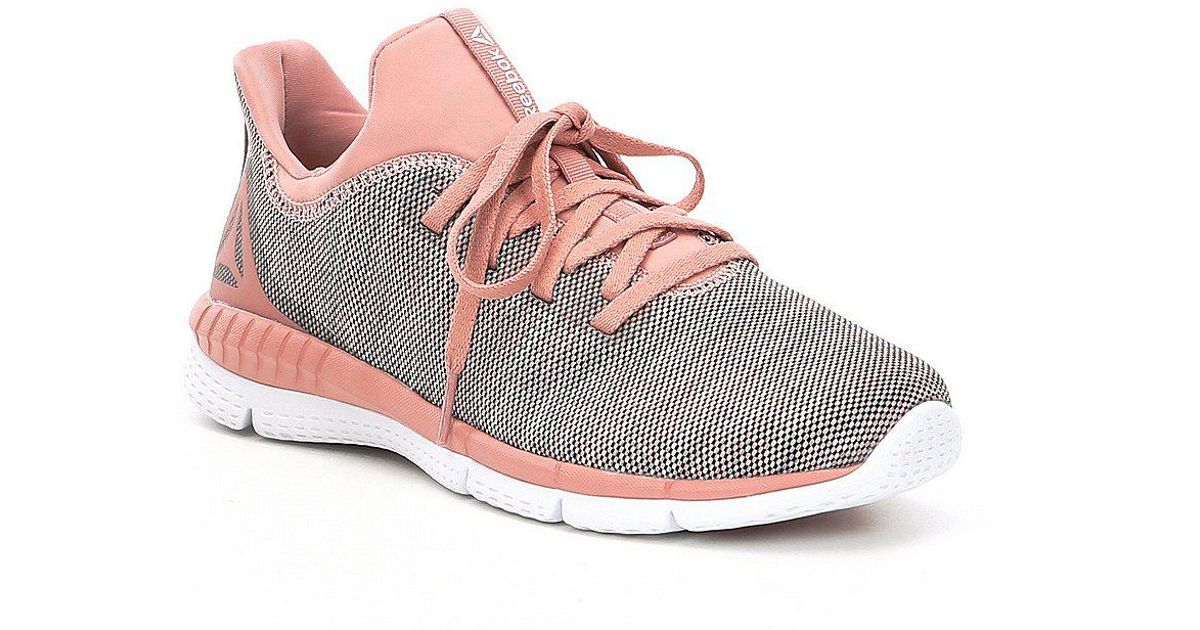 Lyst - Reebok Women s Print Her 2-0 Running Shoes in Pink 485db5320