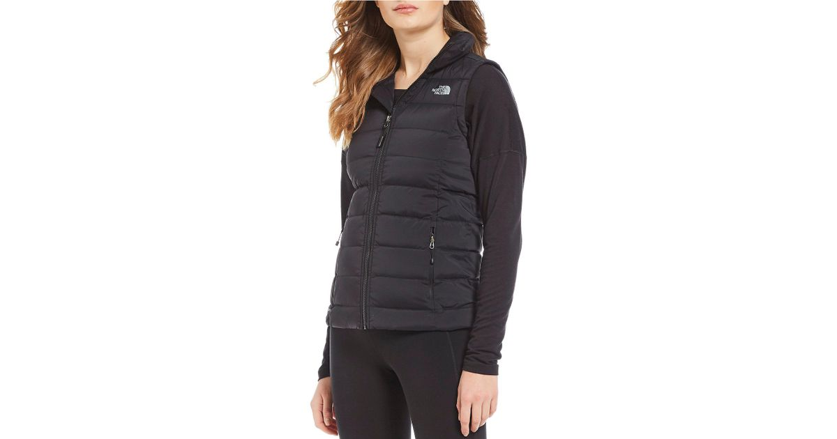 8ef7a3d080 Lyst - The North Face Mountain Sports Stretch Down Zip Front Puffer Vest in  Black