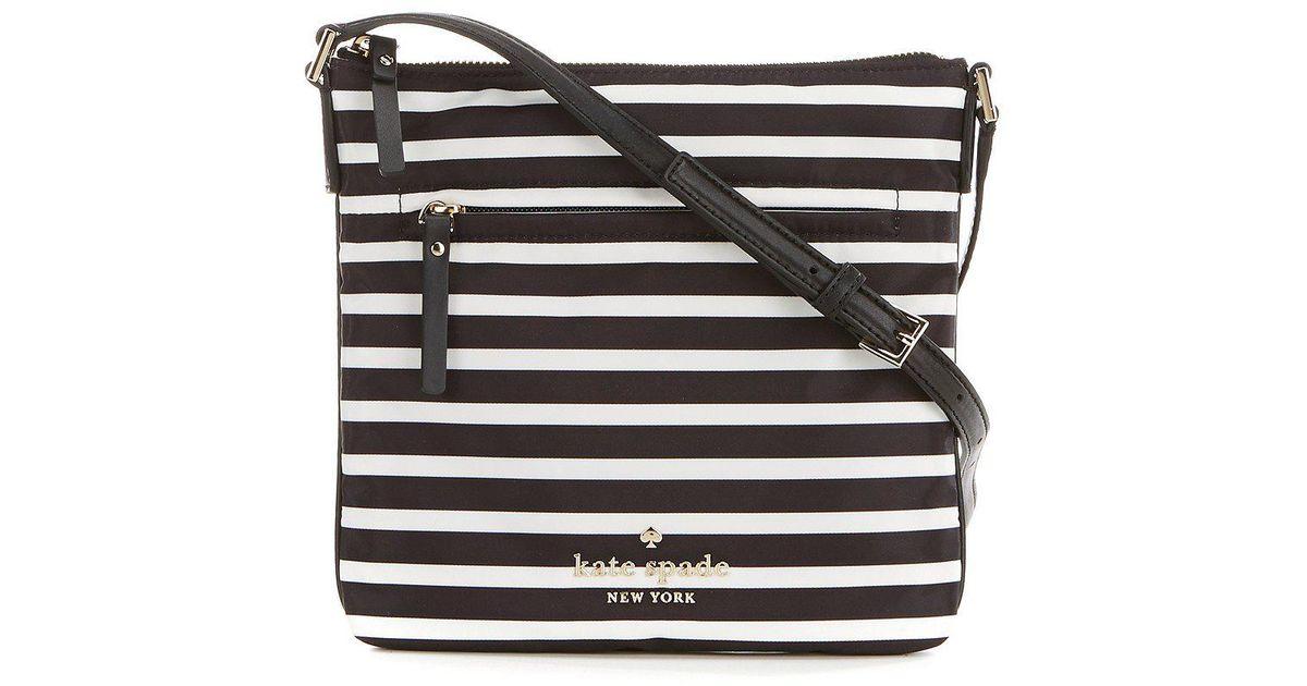 48c6a0290d0 Lyst - Kate Spade Watson Lane Hester Striped Cross-body Bag in Black