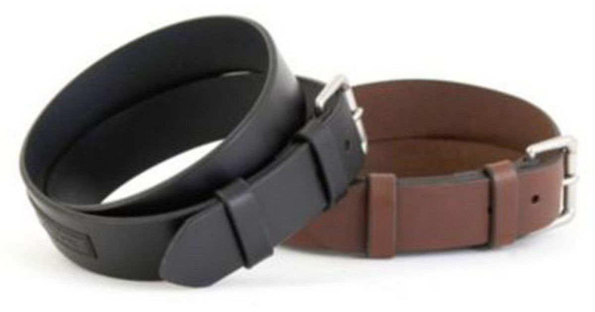 Lyst Polo Ralph Lauren Saddle Logo Patch Leather Belt In Brown