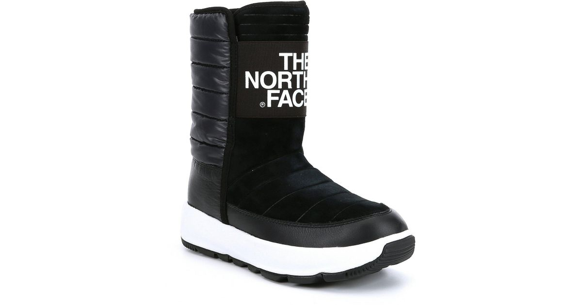 Lyst - The North Face Women s Ozone Park Winter Pull On Boots in Black 639bc7bdd051