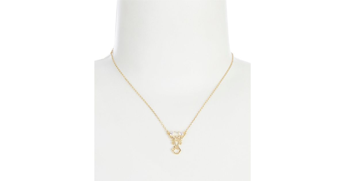 fdd554145 Kate Spade Scorpio Zodiac Pendant Necklace in Metallic - Lyst